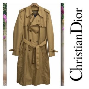 Christian Dior Monsieur Vintage Trench Coat Camel